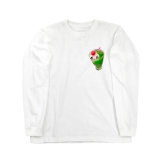 そばにいる食べ物シリーズ Long sleeve T-shirts