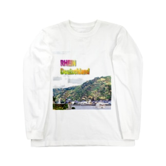 FUCHSGOLDのドイツ:ローレライへの曲がり角 Germany: Rhein near Loreley Long sleeve T-shirts