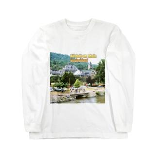 FUCHSGOLDのドイツ:ライン川の岸辺の風景 Germany: Old town beside Rhein Long sleeve T-shirts