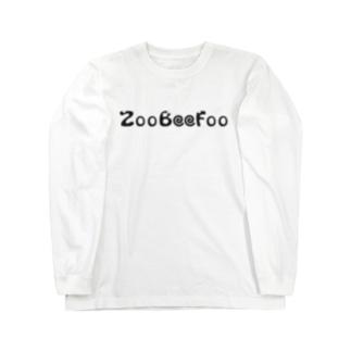 ZooBeeFoo黒ロゴ Long sleeve T-shirts