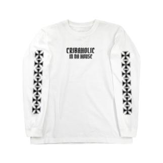 "CRIBAHOLIC ""引篭野郎"" Long sleeve T-shirts"