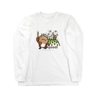 邑南町ゆるキャラ:オオナン・ショウ『Silver-good!』 Long sleeve T-shirts