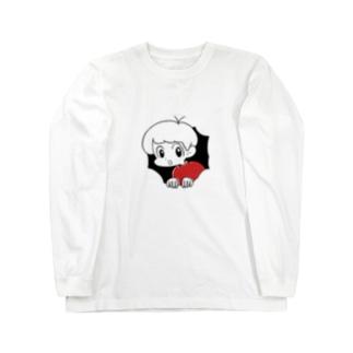 穴から男の子 Long sleeve T-shirts