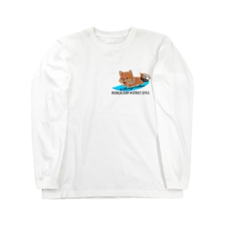 REGALIA dog surf Long sleeve T-shirts