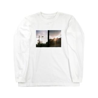 夕暮れの散歩 【プリント】 Long sleeve T-shirts