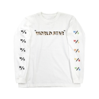 WORLD STAR ロゴロゴ Long sleeve T-shirts