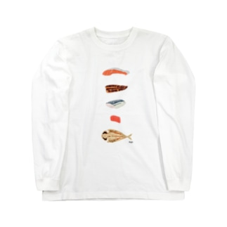 きりみ 魚 Long sleeve T-shirts