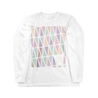 TDS モノグラムパステル ご祝儀 Long sleeve T-shirts