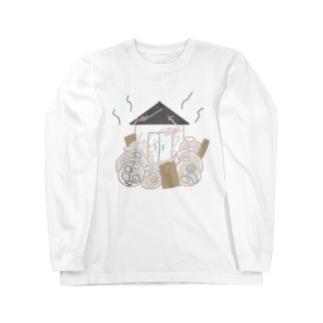 ふんわりゴミ屋敷 Long sleeve T-shirts