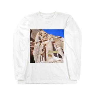 エジプト:アブ・シンベル大神殿 Egypt: Ramesses II of Abu Simbel Long sleeve T-shirts