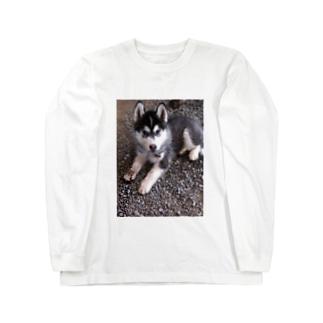 子犬チョビ Long sleeve T-shirts