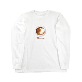 猫カレー🍛おいしそうな いろをした ねこ. Long sleeve T-shirts
