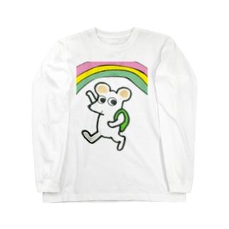 ねずみ Long sleeve T-shirts