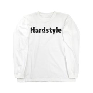 Hardstyleロゴ入りロングスリーブTシャツ 黒文字 Long sleeve T-shirts