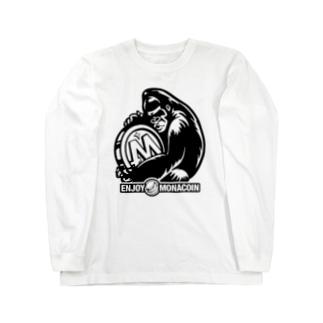 モナゴリラ モナコイン 単色BK (SZ) GemBox Long sleeve T-shirts