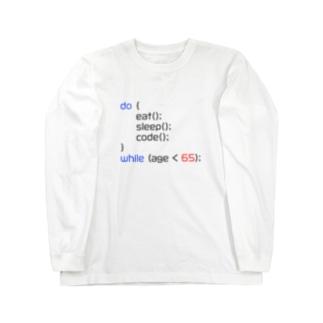 定年まで働けるJSデザイン Long sleeve T-shirts