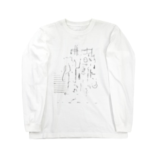 罫線都市 Long sleeve T-shirts