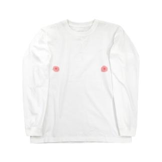 ピンポイント乳輪シリーズ Long sleeve T-shirts