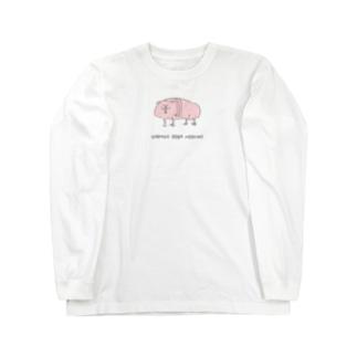 ハダカデバネズミ Long sleeve T-shirts