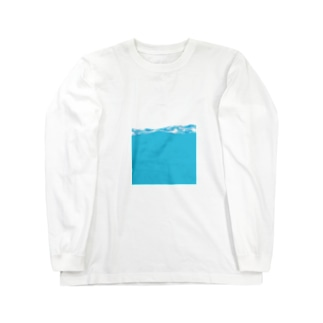 海に浸かる Long sleeve T-shirts