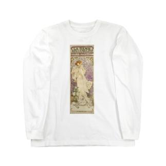 「LA. DAME. / AUX. CAMELIAS / SARAH BERNHARDT」  Mucha, Alphonse/Paris Musées Long sleeve T-shirts