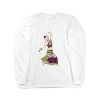【タイの人々】伝統舞踊のダンサー Long sleeve T-shirts