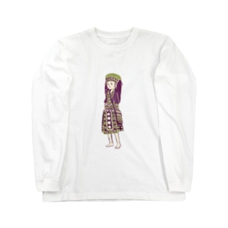【タイの人々】モン族の女の子 Long sleeve T-shirts