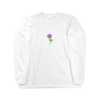 はぎはらしゅんくんフラワー Long sleeve T-shirts