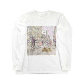 CG絵画:イスタンブールの路面電車 CG art: tram at Istanbul Long sleeve T-shirts