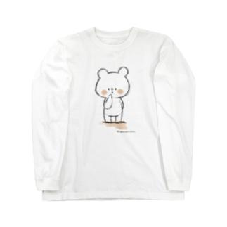しろくまななみん ラフ画風 Long sleeve T-shirts