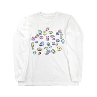 お湯虫。 Long sleeve T-shirts