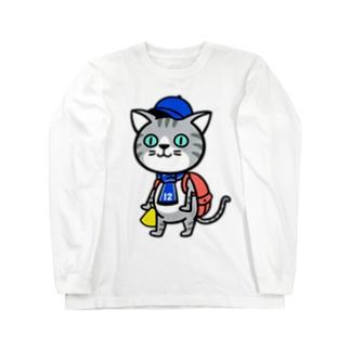 にゃんサポ Long sleeve T-shirts