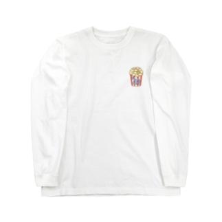 福豆さんポップコーン Long sleeve T-shirts