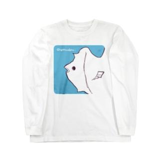 ゆるいおさかな(正方形) Long sleeve T-shirts