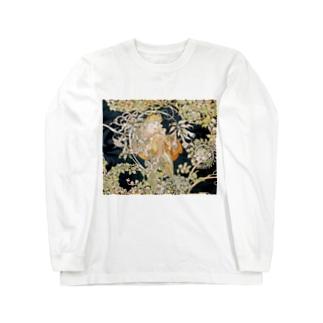 ミュシャ『 ヒナギクを持つ女性 』 Long sleeve T-shirts