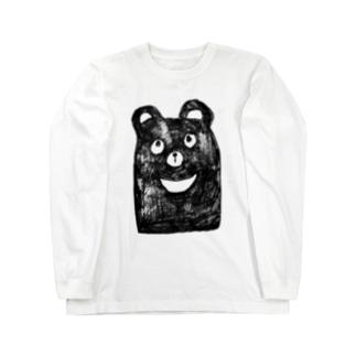 四国のツキノワグマ Long sleeve T-shirts