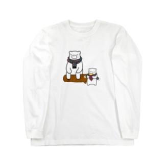 クマーとあんこすきー Long sleeve T-shirts