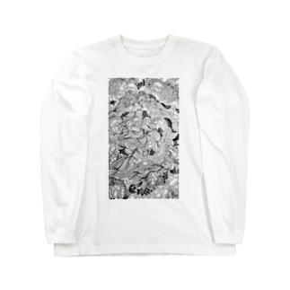 うねうね Long sleeve T-shirts