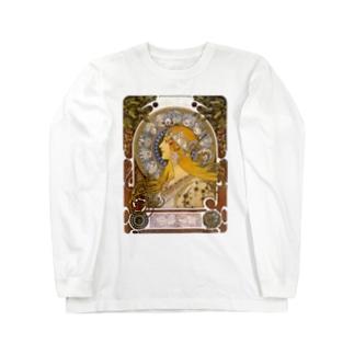 黄道十二宮  (ZODIAQUE) アルフォンス ミュシャ Long sleeve T-shirts