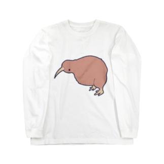 ゆるキーウィ Long sleeve T-shirts