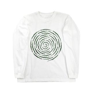 ぐるぐるヘビ Long sleeve T-shirts