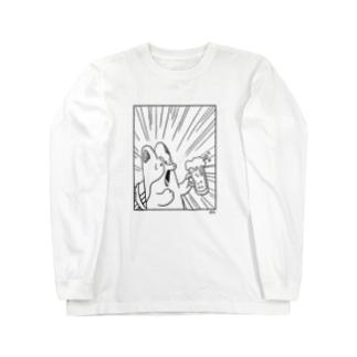 乾杯コーギー Long sleeve T-shirts