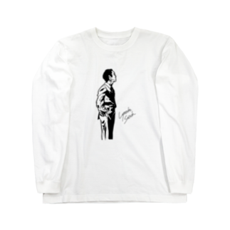 LyosukeSaitoh グッズストアの立ち姿 ロングTシャツ Long sleeve T-shirts