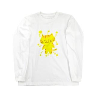 きいろいねこ Long sleeve T-shirts