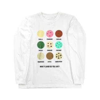 アイスクリーム何味が好き? Long sleeve T-shirts