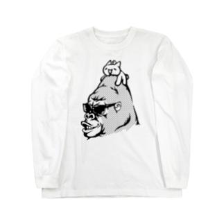 モナーのせゴリラ モナコイン 単色BK (SZ) GemBox Long sleeve T-shirts