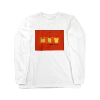 りんごみっつオレンジ Long sleeve T-shirts