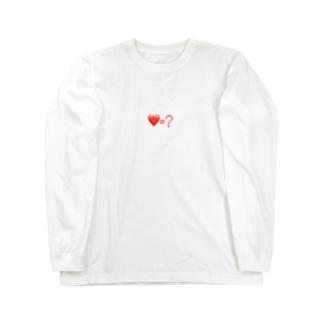 QUESTIONMARKのLove=? Long sleeve T-shirts