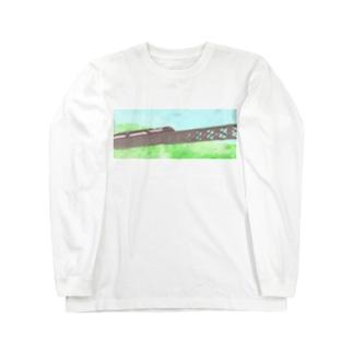 山岳鉄道 Long sleeve T-shirts