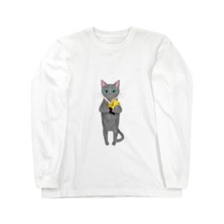 軽率に優勝する猫 Long sleeve T-shirts
